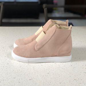 Shoes - Wedge Sneakers Khaki Tan Sneaker Wedges Booties
